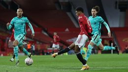 Marcus Rashford will be hoping to extend his excellent goalscoring record against Liverpool on Sunday