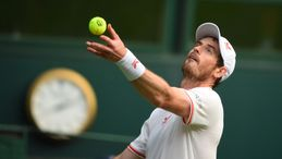 Andy Murray is in second-round action at Wimbledon today