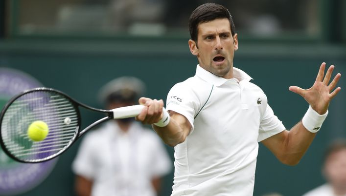 Men's No1 seed Novak Djokovic cruised through his second round clash with Kevin Anderson today