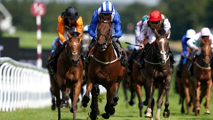 Maydanny won the Golden Mile for his second Glorious Goodwood success