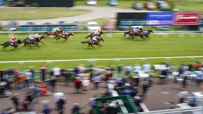 Action from Brighton Racecourse