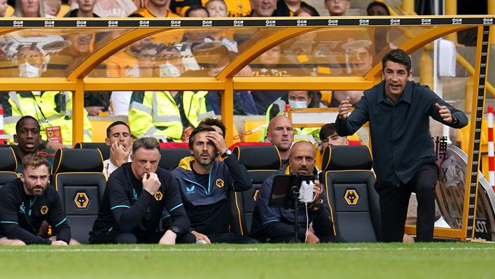Bruno Lage is yet to pick up a point as Wolves boss